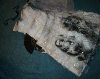 Day of the Dead corpse bride Costume dress womens sz 22 unique strapless plus size Halloween costume Dia de los Muertos  sugar skull