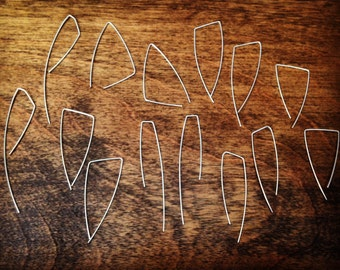 Sterling Silver Threader Earrings - Hand Formed and Finished