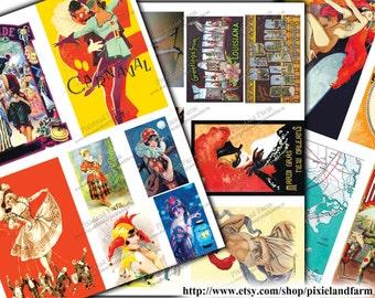 Mardi Gras Vintage Printable Digital Download