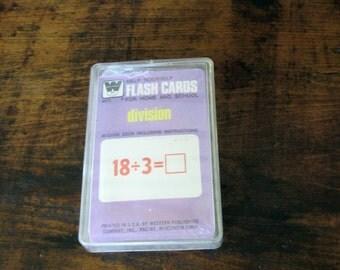 Vintage Whitman Flash Cards, Math Flash Cards, Vintage School Supplies, Homeschool