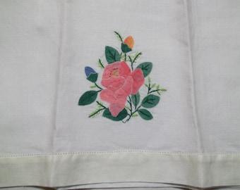 Vintage Appliqued Guest Towel