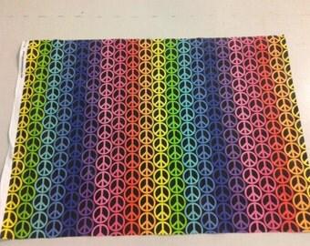 Rainbow Peace Sign Fabric  245270