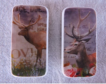 Domino Magnets Set of 2 Elk and Deer Antlers