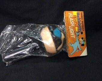 Huckleberry Hound Figural head flashlight MIP - 1976