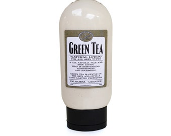 Green Tea Lotion, SPA scent,  formulated for dry and mature skin, with organic extracts -- MADE in Los ANGELES Best Seller