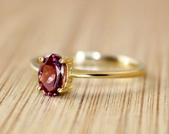 25% OFF Natural Pink Tourmaline Ring - Engagement Ring - Silver, Gold