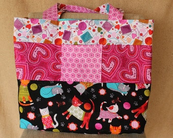 Sewing Pattern, Sewing Pattern for Bags, Large Bag Pattern, Knitting Bag Pattern, Fat Quarter Bag Pattern, Easy to Sew Bag Pattern