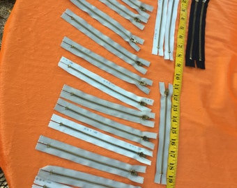 Vintage Metal Zippers lot