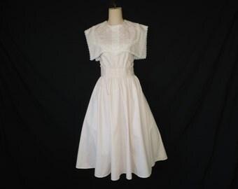 gunne sax pink lace dress. 1980's romantic floral frock. small / medium.