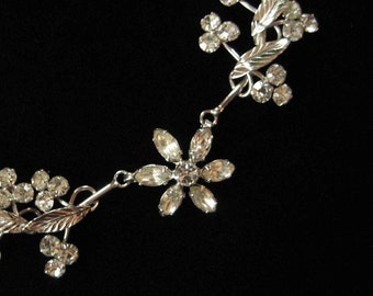 1950's White Gold Filled Necklace by Spiffardi