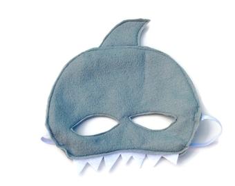 Gray Felt Shark Mask Child Kids