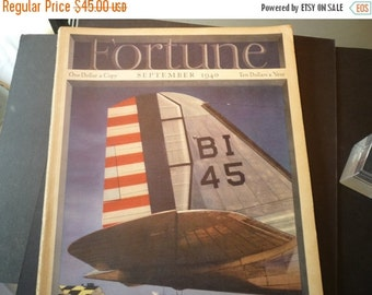 ON SALE: Fortune Magazines- September 1940 - great war time issue - complete copy - very good condition - whole issue - cover by Otto Hagel