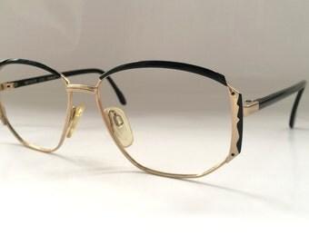 80s Vintage German Metzler Pentagonal-Frame Eyeglasses