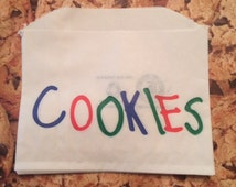 Cookie Bags 25 Bags & Get 25 Bags Free-50 Bags Perfect for that Cookie Monster Party-rainbow party-primary colors