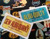 RESERVED for Bon, Row by Row 2016 License Plates for Hip Stitch, Albuquerque, NM