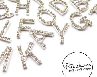 Diamante Rhinestone 2cm Flat Backed Alphabet Letters A-Z