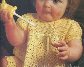 Baby's Crochet dress pattern. Instant PDF download!