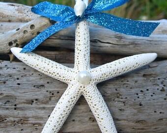 Starfish Ornament Wedding Favors AQUA By Sandnsurfcreations