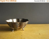 30% off SALE Have Feet, Won't Travel - Footed Silverplate Bowl - Silver Scallop Bowl