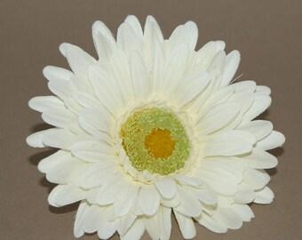Cream Gerbera Daisy - Artificial Flowers, Silk Flower Heads - PRE-ORDER