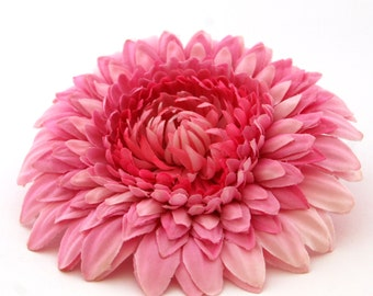 Lovely Layers Violet Pink Gerbera Daisy - Artificial Flowers, Silk Flower Heads