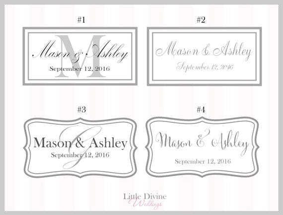 Personalized Name Tag Card / Monogram to be purchased with the CARD BOX only!