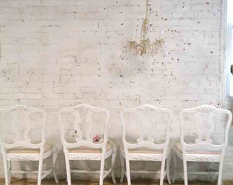 Painted Cottage Chic Shabby French Dining Kitchen Mix and Match Chairs CHR134