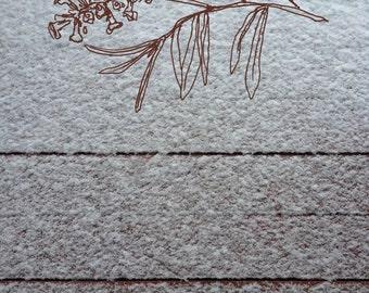 minimalist photo art print: Snow & Lavender