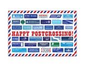 Postcrossing Airmail Postcard