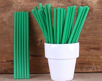 Green Lollipop Sticks, Small Green Cake Pop Sticks, St. Patrick's Day Lollipop Sticks, Cake Pop Sticks, Woodland Party Lollipop Sticks