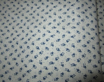 1.5 yards blue and white quilting cotton
