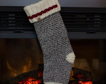 Crochet PATTERN Polar Ridge Christmas Stocking One Size