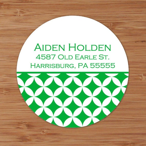 Mod Circles - Custom Personalized Address Labels or Stickers