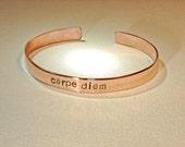 Carpe Diem Copper Cuff Bracelet - BR619