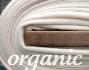 SALE Today Ivory Fleece Organic Cotton Fat Quarter Organic Fleece Fabric Knit in the US, Domestically Made GOTS Certified Natural Eco Friend