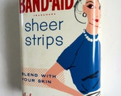 Vintage 1960s Band-Aid Metal Tin