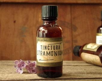Amber Glass Medicine Bottle Pharmacy Apothecary Bottle Tinctura Stramonium