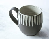 14 oz. Handmade Mug, Daisy, Handmade Pottery Handmade Ceramics Seattle
