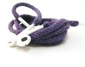 Tangle Free Knit Apple Earpods in Cool Purple