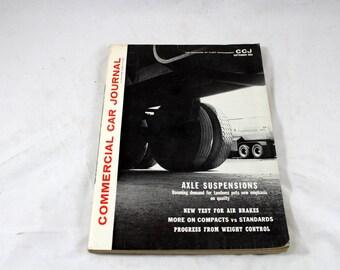 Commercial Car Journal. VTG Magazine of Fleet Management. CCJ. September 1963. Trucking Magazine. Vintage Trucking. Axel Suspension, Brakes