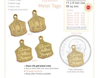 Example Project. Double sided metal tag