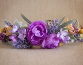 Floral Halo Made to match Well Dressed Wolf Lavender Tutu Du Monde Flower Girl or photos