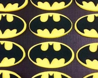 36 Batman fondant cupcake toppers