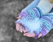 Colorful fingerless, fun arm warmers, merino wool fingerless, gloves, exciting knitted gloves, teenager fingerless, christmas gift