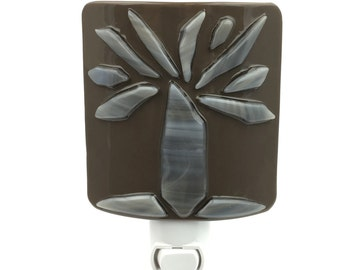 Night Light, Brown & Gray Decor, Tree