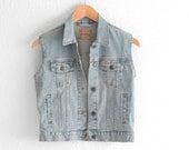 Levis Vest Levis Denim Vest Levis Jean Vest Levis Vest Small Denim Levis Vest Levi Denim Vest Blue Jean Vest xs xsmall