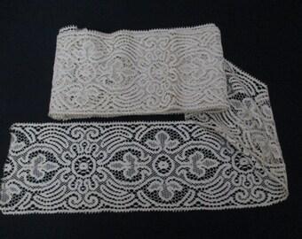 2 Yards Vintage Lace Trim Cotton Wide