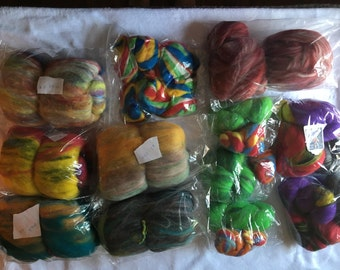 Spinning batts and roving