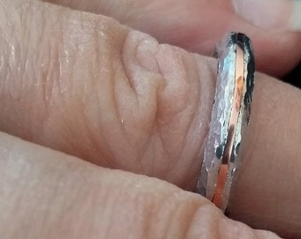 aluminum ring with copper inlay