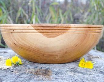 "Wood Bowl, X-Large Southern Pecan 14"" Wedding bowl, Centerpiece, Salad Bowl, Fruit Bowl, Serving Bowl,  hand turned"